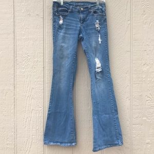 NY&C | soho flare distressed blue size 2 bootcut